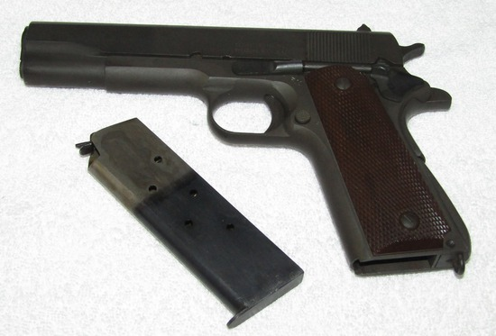Exceptional M1911 A1 .45 Cal. Pistol By Remington Rand-1943 Serial Number