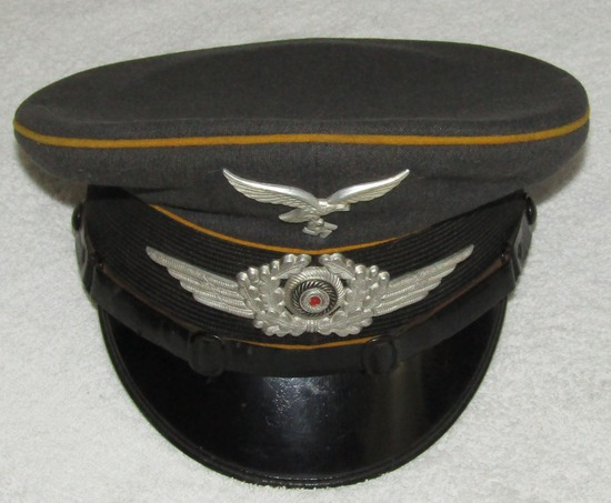 Early Issue Luftwaffe Visor Cap For Flight/Paratroops Enlisted-Unit Stampings-Robert Lubstein