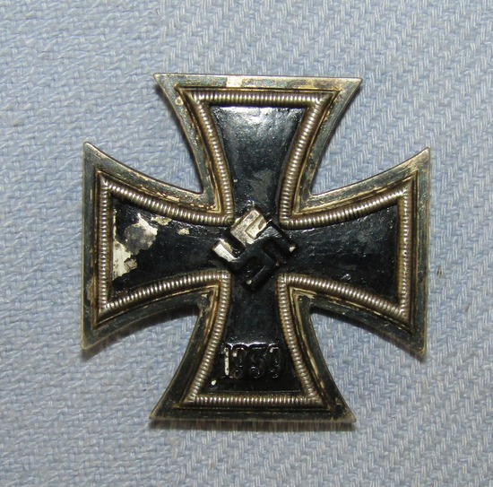 Early War Production Iron Cross 1st Class With Pin Back