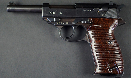 Mauser made P.38 Automatic Pistol, marked byf stacked over 44