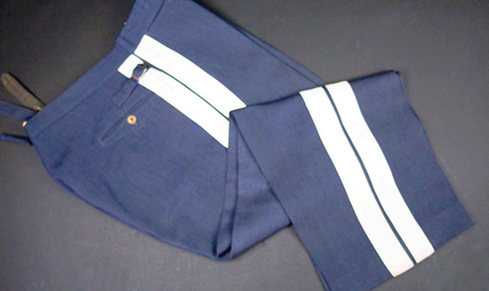 Luftwaffe Generals White Striped Straight Leg Uniform Trousers-Named