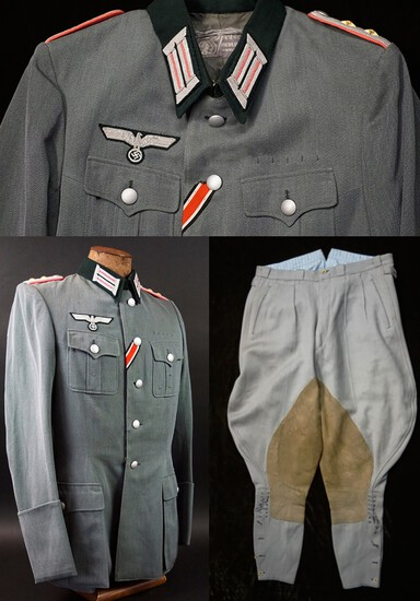 WW2 Panzer Officer Tunic/Pants-Named To KIA Knights Cross/DKG Recipient
