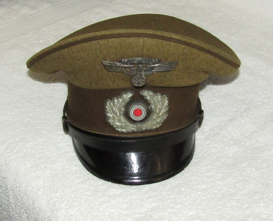 Rare WW2 NSKK Assigned To The Wehrmacht Visor Cap For Enlisted-By EREL