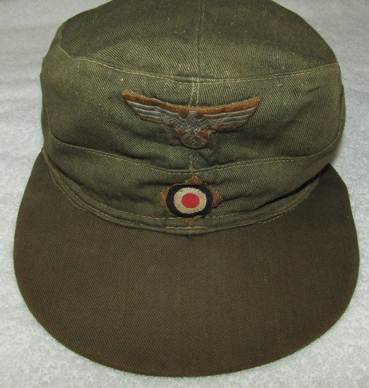 Tropical/Afrika Korps M41 Pattern Cap-Textbook Period Example