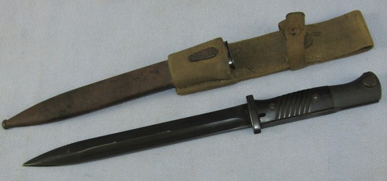 WW2 German K98 Bayonet With Scabbard-Tropical Frog-Non Matching #ers