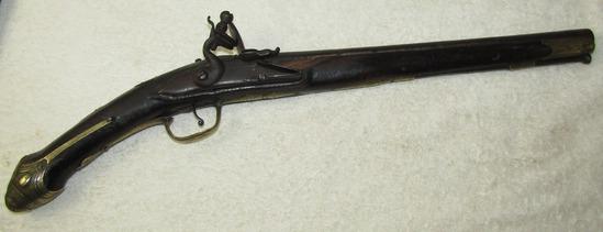 Scarce Early Ottoman/Barbary Coast Pirate Flintlock Pistol