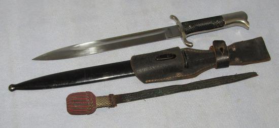 WW2 Nazi Fire Police Bayonet With Scabbard/Frog/Portapee-Distributor Marked