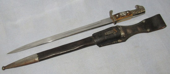 "Long Model WW2 Nazi Police ""Bayonet By Robert Klaas-Matching # Stampings"