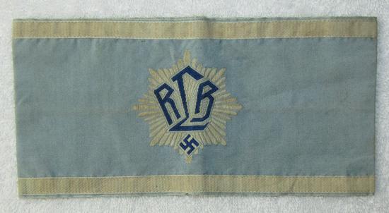 Scarce 1st Type WW2 German RLB Officer's Armband