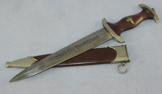 Late War SA Dagger With Scabbard-RZM M7/43 (Weyersberg)