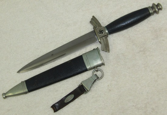 Scarce NSFK/School Marked Dagger With Scabbard