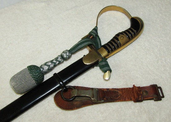 Pre/Early WW2 Period German NCO Sword By Alcoso With Portapee/Leather Hanger
