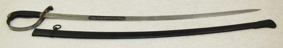 Prussian Artillery Officer's Sword-Double Sided Unit Engraved Blade