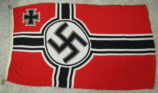 Scarce Smaller Display Size WW2 German Kriegs Flag 80 X 135 Excellent Condition.