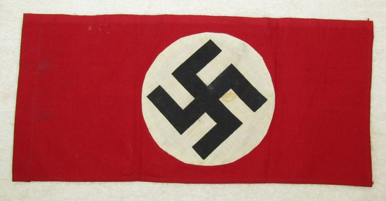 Small Double Sided NSDAP Flag With Sewn Pole Loop