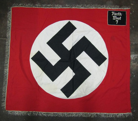 Rare Pre/Early WW2 NSDAP/NSKK Double Sided District Banner With Pole Rings