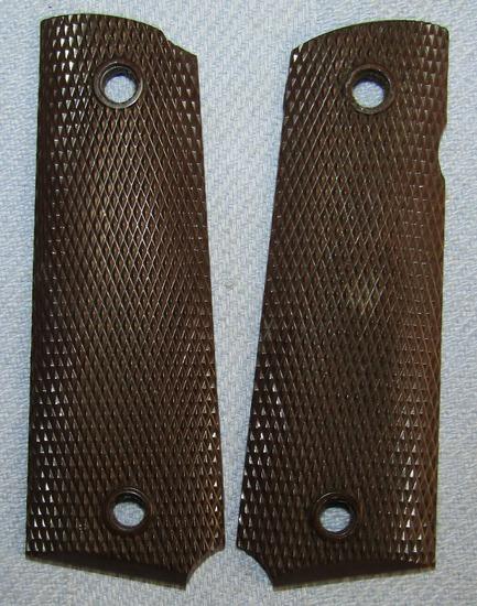 Original WW2 Period M1911 A1 Pistol Bakelite Grips