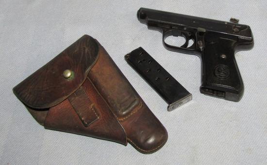 Wehrmacht Issue Model 38H Sauer & Sohn Pistol-Late War Variant W/Holster