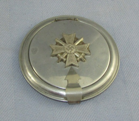 Unique Ladies' Makeup Compact With Applied War Merit Cross 1st Class With Swords
