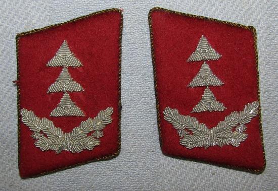 Scarce WW2 Period Luftwaffe Martial Court/Judicial Officer's Collar Tabs