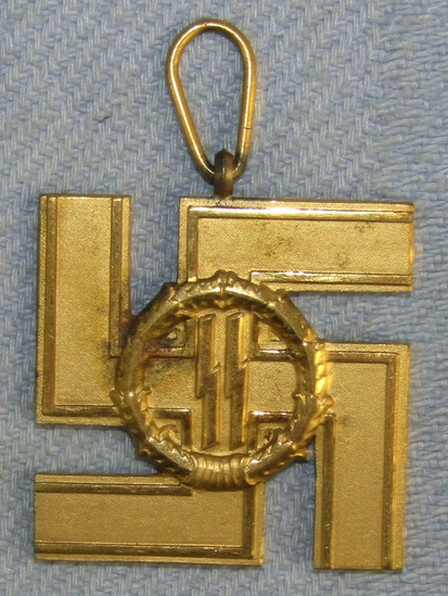 Rare And Original WWII Period SS 25 Year Long Service Medal