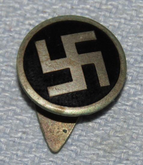 Rare WW2 Period Flemish NSDAP Supporter Lapel Button