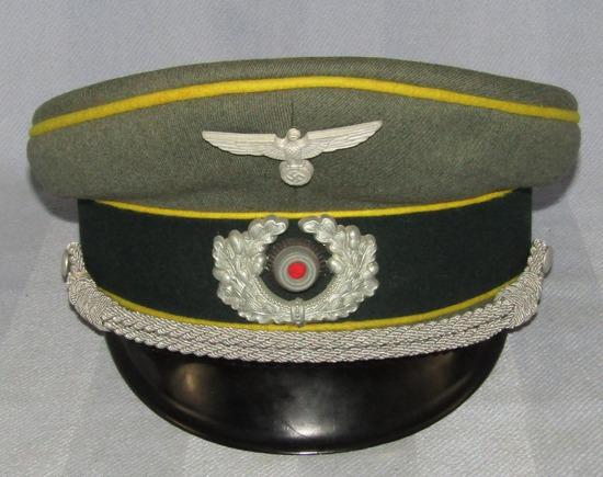 WW2 German Signals Officer's Visor Cap By EREL