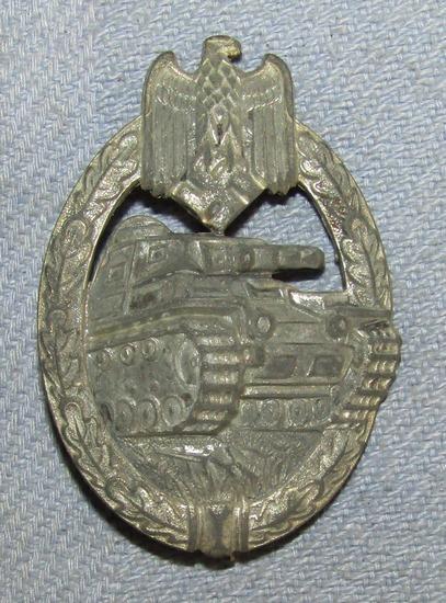 Panzer Assault Badge In Silver-Stamped Version By Assmann