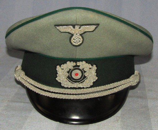 Early War WW2 German Administration Officer's Visor Cap-Early Eagle-All Bullion Insignia