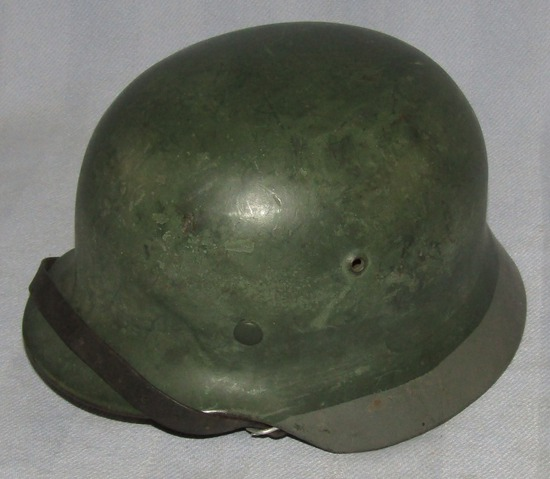 M35 Helmet With Liner/Chin Strap- Unusual Paint Configuration-EF62-Chin Strap dated 1937