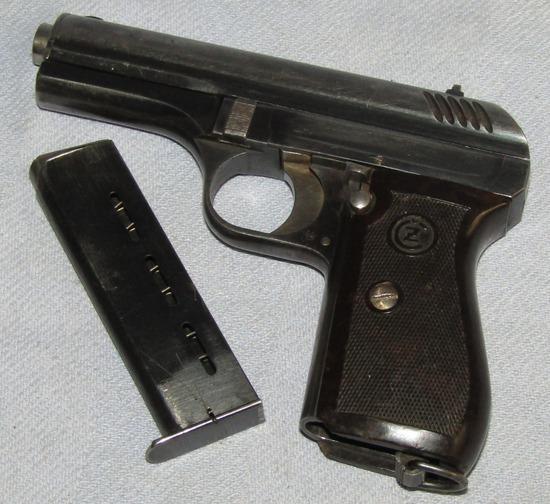 Early WW2 CZ 24 9mm Pistol With Clip-Pre Czech Annex