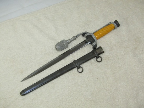 German Wehrmacht Officer's Dress Dagger W/Portapee-F.W. HOLLER-Excellent Example!