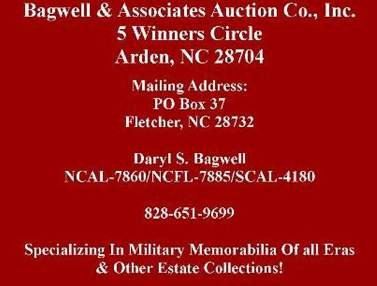 AUCTION DATE & TIME--TUESDAY DECEMBER 8, 2020 STARTING @ 5:00 PM EST