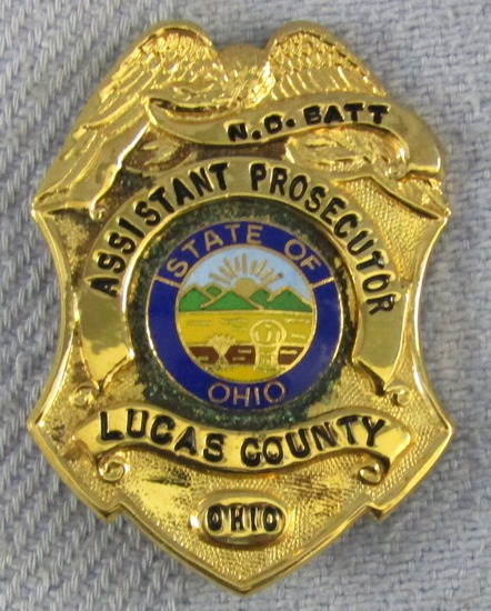 Scarce & Obsolete Vintage Lucas County, Ohio Assistant Prosecutor Named Badge-Circa 1970's