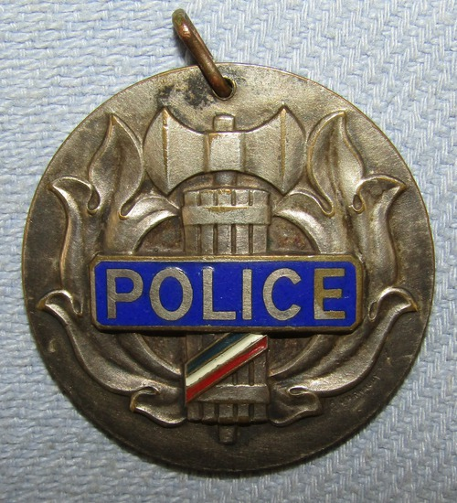 Rare WW2 French Vichy Police Disc-Reverse Is Numbered-Gestapo Collaborators!