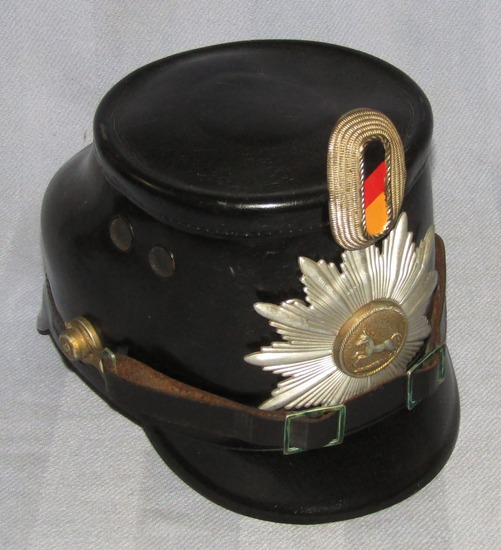 Early Occupation Period German Fire Police Shako-Lower Saxony Front Plate