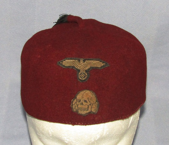 "Waffen SS 13th ""Handschar"" (1st Croatian)  Mountain Division Red Wool Fez"