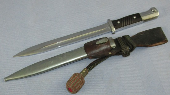 K98 Field Bayonet With Chromed Fittings/Blade/Scabbard For Parade? Portapee/Frog
