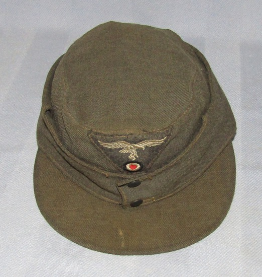 Combat Worn Luftwaffe Summer Weight M43 Cap For Enlisted