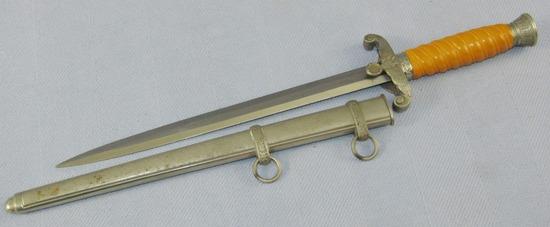 Exceptional Wehrmacht Officer's Dagger With Scabbard-ANTON WINGEN Jr.