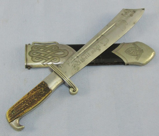 RAD Enlisted Hewer With Scabbard-Eickhorn Maker marked