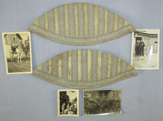 "Pr. German Infantry  Band Member ""Swallow Nests""-4 Original Soldier Taken Band Member Photos"