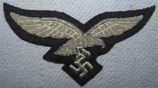 Luftwaffe Officer's Bullion Embroidered Breast Eagle-Unissued Condition