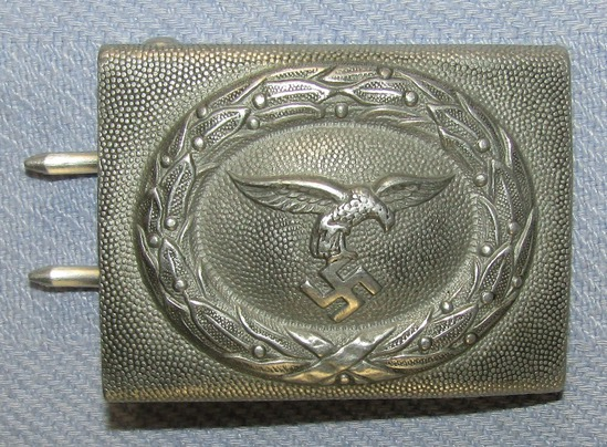 """Early Luftwaffe """"Droop Tail"""" Belt Buckle For Enlisted"""