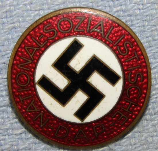 Enamel Version NSDAP Party Pin-M1/72-Fritz Zimmermann