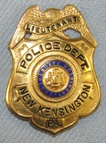 Scarce & Obsolete Vintage New Kensington, PA Police Dept. Lieutenant's Badge