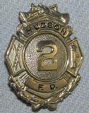 Scarce & Obsolete Vintage Hudson Fire Dept. Numbered Badge