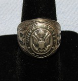 WWII Period United States Army Sterling Men's Ring