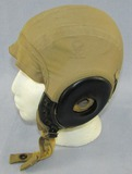 Early WW2 Period Type A10-A Summer Weight Flight Helmet-Bates Shoe Co.-Large