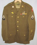 Early WW2 Period  Airborne Command Class A Jacket For EM-Sterling Pin Back Jump Wings